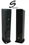 Suber Electronics Home Theater Floor Standing Speakers, Black Gloss