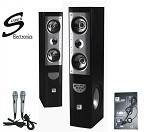 Suber Electronics Karaoke Floor Standing Speakers with Mics